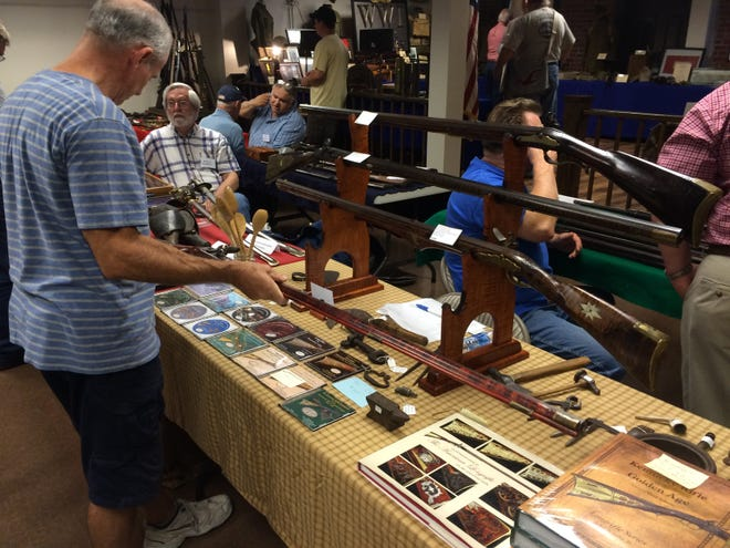 History buffs and antique gun enthusiasts check out the workmanship of early gunsmiths at the Harmony Antique Gun Show.  This year's show is August 21.