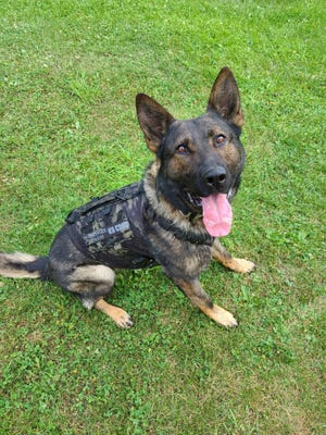 The Barnesville Police Department's K9 Croc received a ballistic vest for duty which will keep K9 Croc a bit safer.