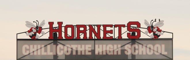 Stadium scoreboard Hornets sign