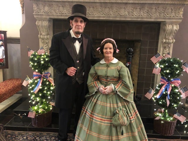 Jim Crabtree and Teena Baldrige, both Springboro residents, are frequent impersonators of Abraham Lincoln and Mary Todd Lincoln. They will be at the Hilliard Ohio Historical Society's annual Heritage Day, slated from 11 a.m. to 4 p.m. Aug. 28 at Weaver Park, adjacent to the Franklin County Fairgrounds, 4100 Columbia St.