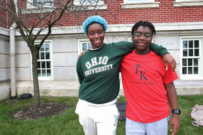 The Boys & Girls Clubs of Central Ohio has received a $500,000 grant from the city of Columbus to provide programming intended to keep youths occupied this summer in hopes of reducing violence. Ariyah Croom, 17, left, and Marcus Griffin, 14, became friends this summer at the Boys & Girls Clubs' Reeb Avenue Center on the South Side, where the two posed for a portrait on the last day the club was open Aug. 13 until after summer break.