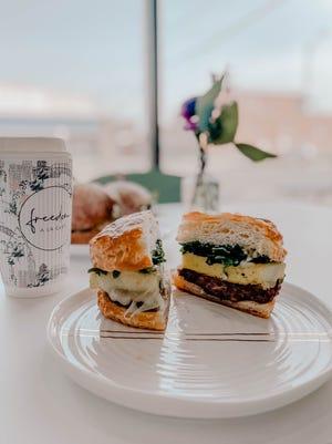 Rosemary breakfast sandwich at Freedom a la Cart Bakery + Cafe
