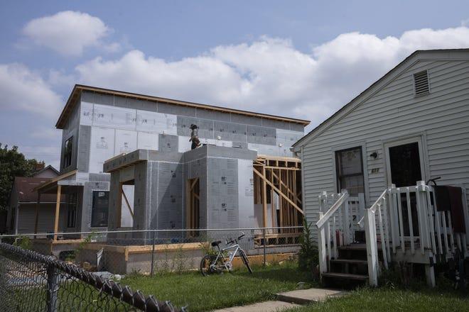 A home being built along Gibbard Avenue on Aug. 10 in the Milo-Grogan neighborhood.