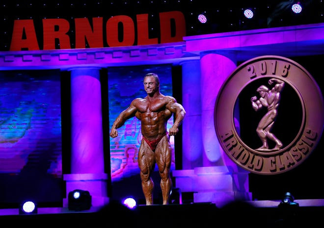 John Meadows of Columbus poses during the Arnold Classic in the Greater Columbus Convention Center on March 4, 2016.