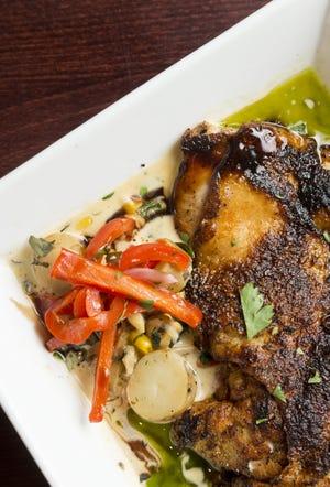 Sweet n spicy roasted chicken at 'Plas Food + Drink