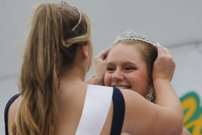 Kayla Box of West Point is crowned the 2021 Sweet Corn Festival Queen Thursday during the annual Sweet Corn Festival in West Point. The four day festival features tons of free sweet corn, a carnival, vendors and musical entertainment. Some of Saturday's scheduled events include a 5K and 10K run, a horseshoe doubles tournament, arts and crafts in the park, pee wee drags, junior water fights and a corn hole tournament.