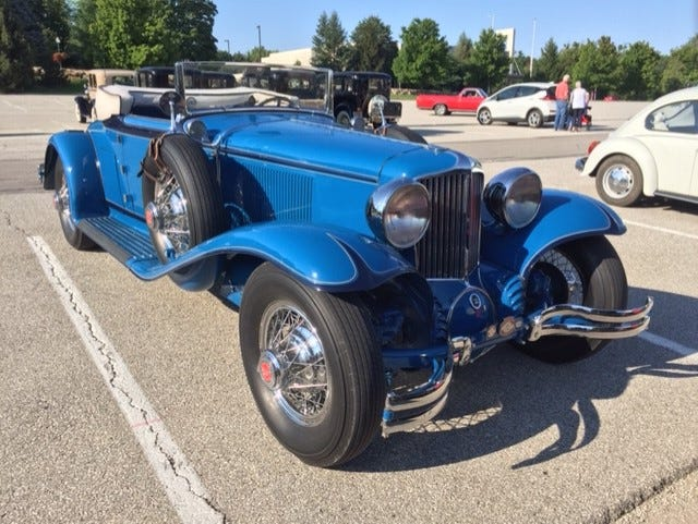 A spectacular Cord had its top down Aug. 4 for a sunny day of touring southern Indiana.