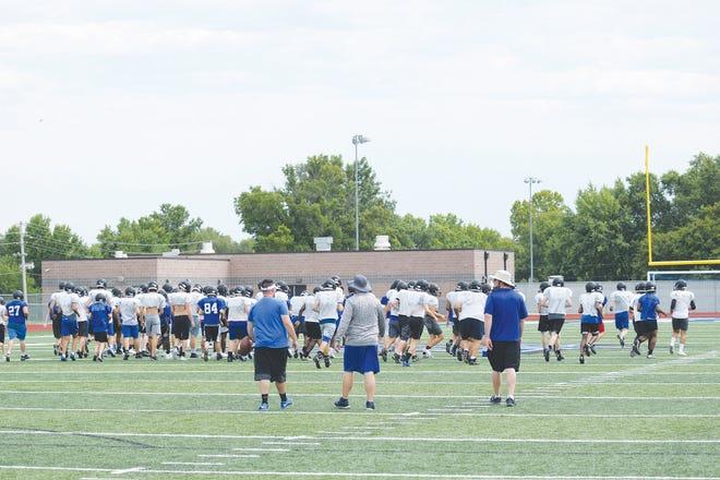 Local high school teams began practicing for the upcoming season Monday