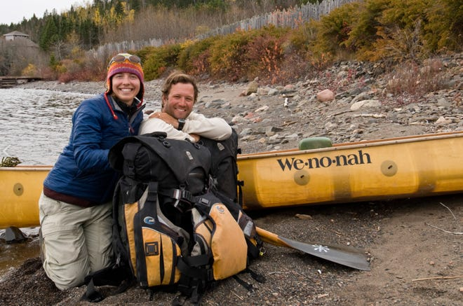 Dave and Amy Freeman during their year in the wilderness that would become the basis of their book.