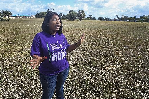 Ladi March Goldwire, seen in 2015, was fired from her Riviera Beach job in 2019.