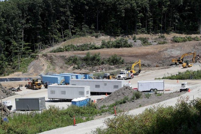 Property owner Northrop Grumman Corp. is hauling hazardous waste out of the Zeidrich Dump near Minerva. The project began in July.
