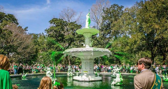 The Forsyth Park Fountain in Savannah