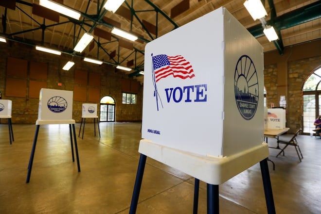 A group of civic engagement organizations argued Tuesday that a Shawnee Countyjudge should halt controversial voting laws enacted this year, saying it is substantially harming their operations and speech rights ahead of the November municipal election.