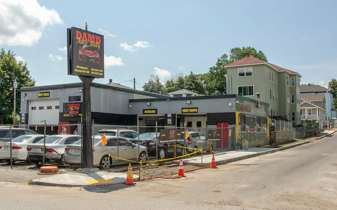 DAMD Auto Body on Piedmont Street is located in a residential neighborhood.