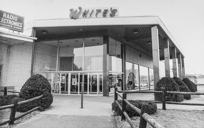 R.H. White's department store in Lincoln Plaza, shown in 1980, closed for good in 1987.