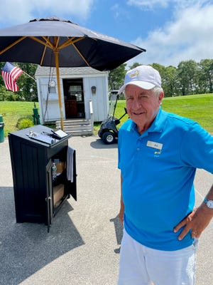 Friendly Worcester native Ken Couture is a starter at Bayberry Hills Golf Course in West Yarmouth.