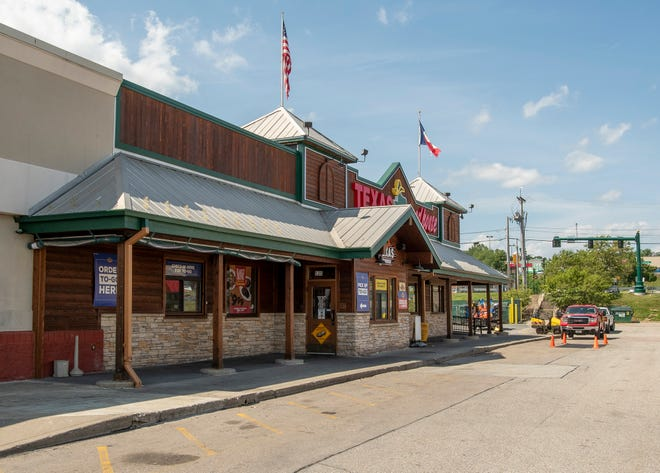 Texas Roadhouse in Lincoln Plaza sits on the site of the former R.H. White's department store.
