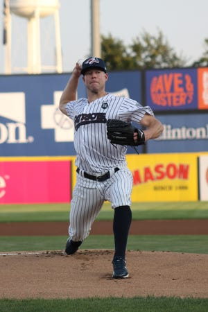 New York Yankees starting pitcher Corey Kluber made his first rehab start with the Somerset Patriots on Thursday, Aug. 12, 2021.