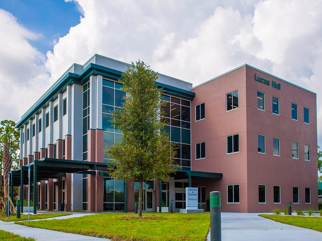 Lucas Hall, FGCU's new building for its entrepreneurial school.