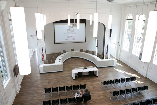 Inside Sonya L. Margerum City Hall, Friday, Aug. 13, 2021 in West Lafayette. Margerum, who died in 2019, served as West Lafayette's mayor for 24 years.