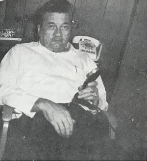 Robert Fuller pictured here sitting in a chair at an unspecified date.