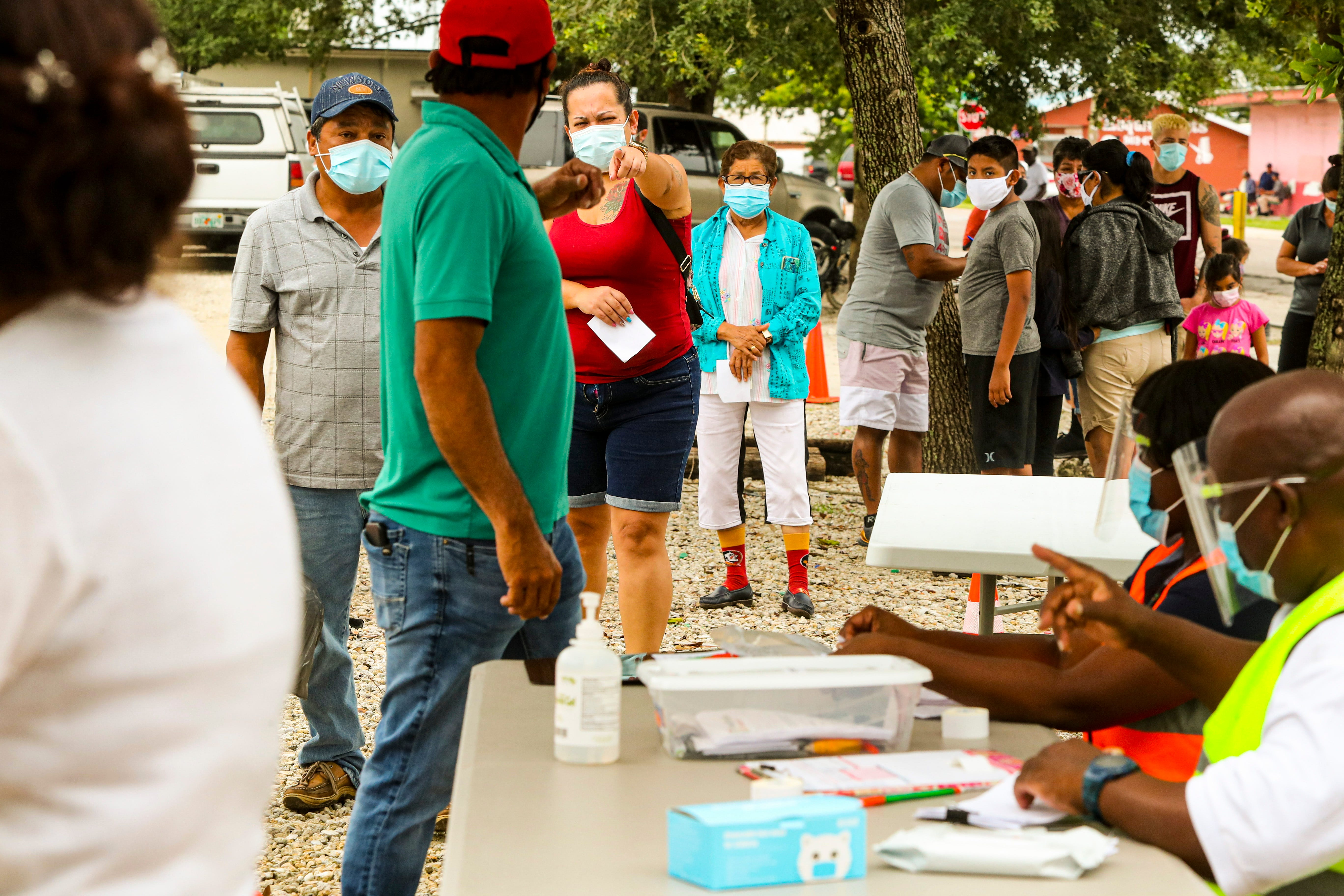 A busy COVID-19 testing event on Aug. 4, 2021, in Immokalee, Florida.