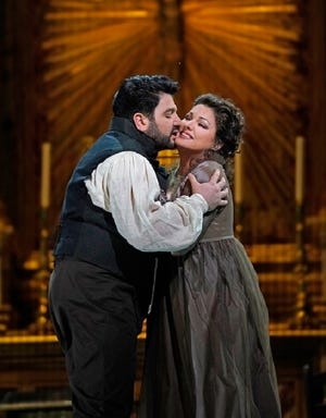 Yusif Eyvazov and Anna Netrebko have been partners in a number of operas and will sing together as husband and wife here Jan. 7.