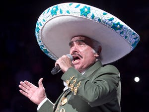 Iconic mariachi singer Vicente Fernandez performs at US Airways Center on Friday, July 20, 2012, in what is reported to be his farewell tour.