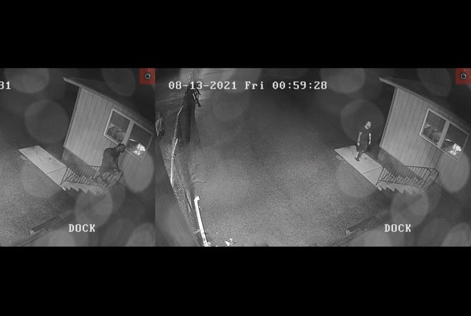 Police need help identifying a man who was caught on surveillance camera spreading fecal matter on a business in Fairview Township.