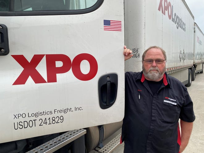 XPO Logistics honored Richmond's Steven Sallee for driving 3 million miles without an accident.