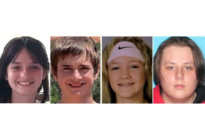 Trinity Cline, Matthew Beeken, Alysa Knutson, Ethan Port were recovered safely August 14th after being reported missing since August 11 from the Brookings and Vermillion areas.