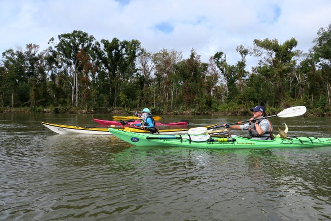 RiverTrek paddlers on the Apalachicola River in 2020.