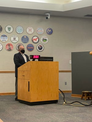 Rocky Capobianco was sworn in as Area 2 trustee at Conejo Valley Unified School District's special board meeting in August