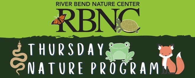 River Bend Nature Center will have three free afternoon programs.