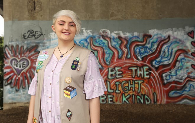Abigail Moore was awarded the Girls Scouts' highest honor, the Gold Award, for a suicide awareness project.