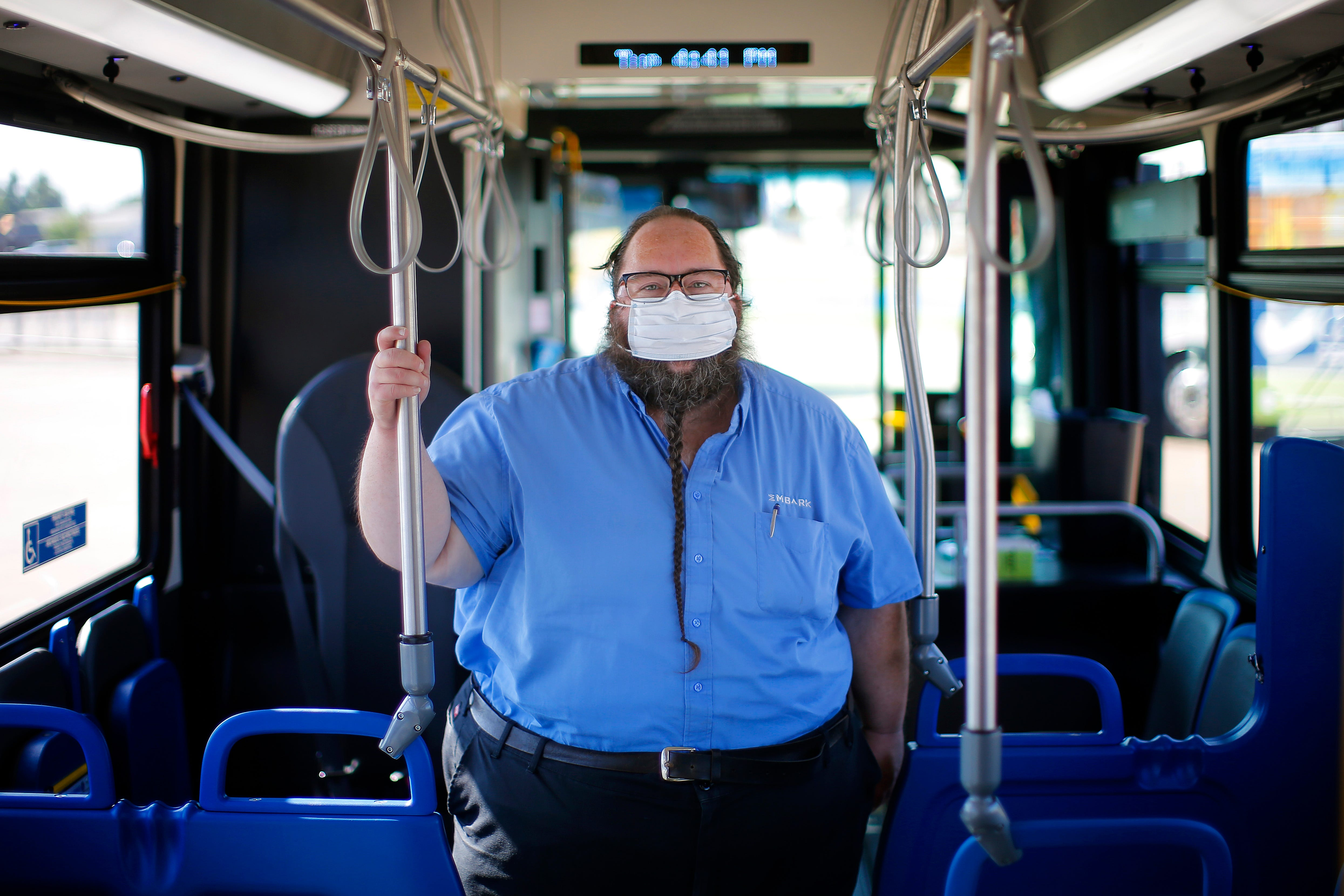 Oklahoma City bus driver Bruce Colbert was out of work for month after being hospitalized with COVID-19 but recently was cleared to get back behind the wheel.