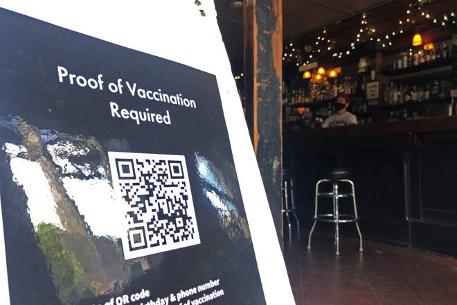 A bar in San Francisco requires proof of vaccination.