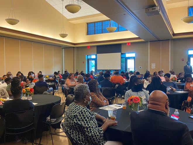 Students, parents and mentors gathered at the Kroc Center on Saturday, Aug. 14, 2021, for an orientation into the Project Impact Augusta program.