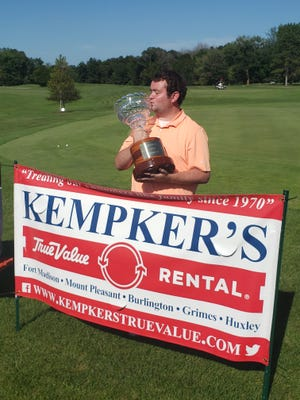 Kacie Broeg of Burlington won the Kempker Open Saturday at Sheaffer Memorial Golf Course in Fort Madison. Broeg defeated Chad Hatch in a one-hole playoff.