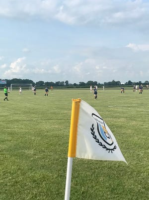 River Valley's girls and boys soccer teams swept the Futbol Friday Night season openers at home against Marion Harding, winning 4-2 and 3-2 each.