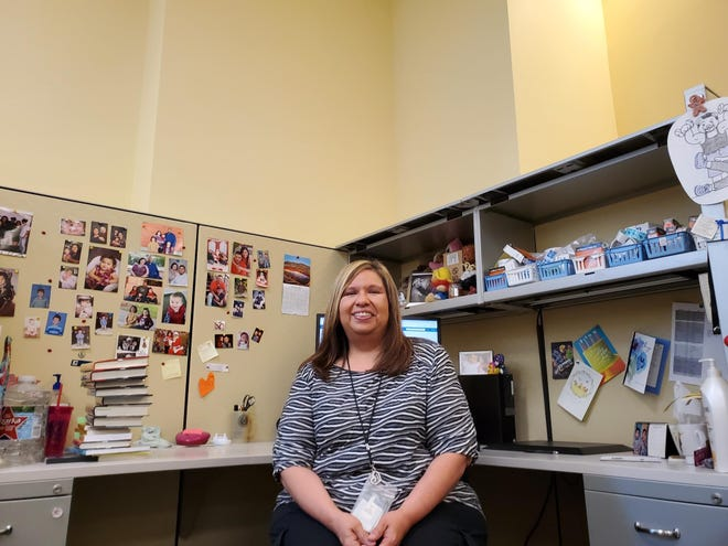 Tom Green County Library Processor Mary Hernandez recently celebrated her 35th year with the library.