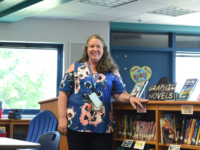 Megan Carroll, William Perry Elementary's media specialist, was recently awarded a grant. She plans to use the grant to purchase books that reflect the diversity of her students and their families.