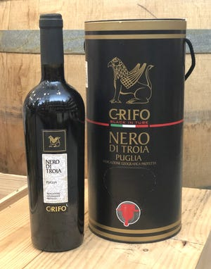 Grifo's Nero Di Troia from Puglia, Italy, is an excellent value in the 750-milliliter or 3-liter sizes.