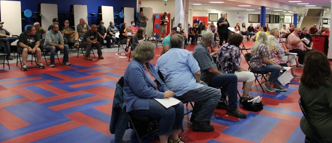 Numerous people attended the Aug. 12 Spencer-Owen Community Schools school board meeting to talk about the recent mask mandate put in place by the local health department.
