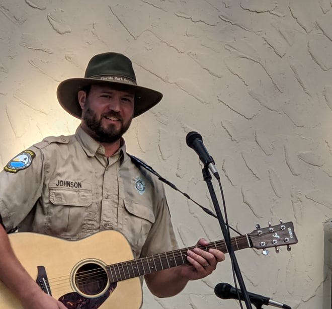 Park ranger Collin Johnson will have a CD Release Party on Saturday, Sept. 11, 2021, 8:30-9:45 p.m. in the Lodge Lobby of Wakulla Springs State Park.