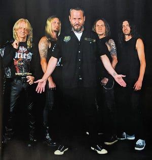 "Tim ""Ripper"" Owens (center) joins former Judas Priest bandmate KK Downing (left) in KK's Priest. The band's debut album, ""Sermons Of The Sinner"" will be released on Oct. 1."