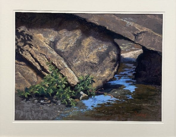 Between a Rock and a Hard Spot by Michele Seeley, Second Place