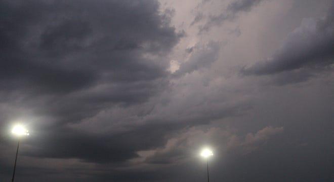 Dark clouds rolling into Goddard