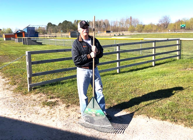 Since 2014, Dave Conlin's goal has been to keep the Cheboygan Little League fields in the best shape possible. Conlin, who owns Alverno Grocery, spends many summer mornings primarily working on the local little league infields.
