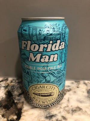 Despite its namesake, Florida Man Double IPA is no trouble at all to drink.